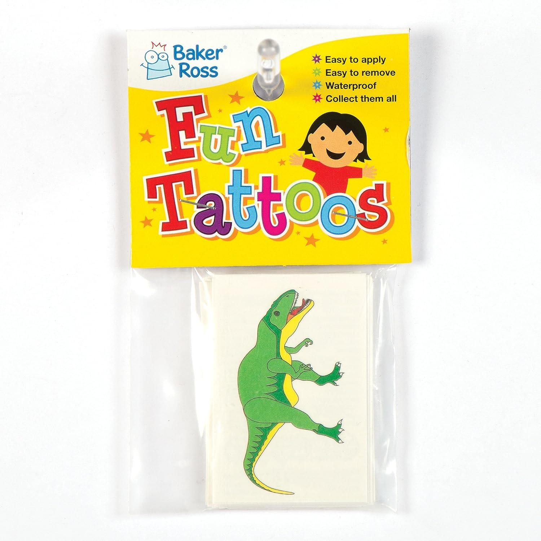 Baker Ross Tatuajes de Dinosaurio (Paquete de 24): Amazon.es ...