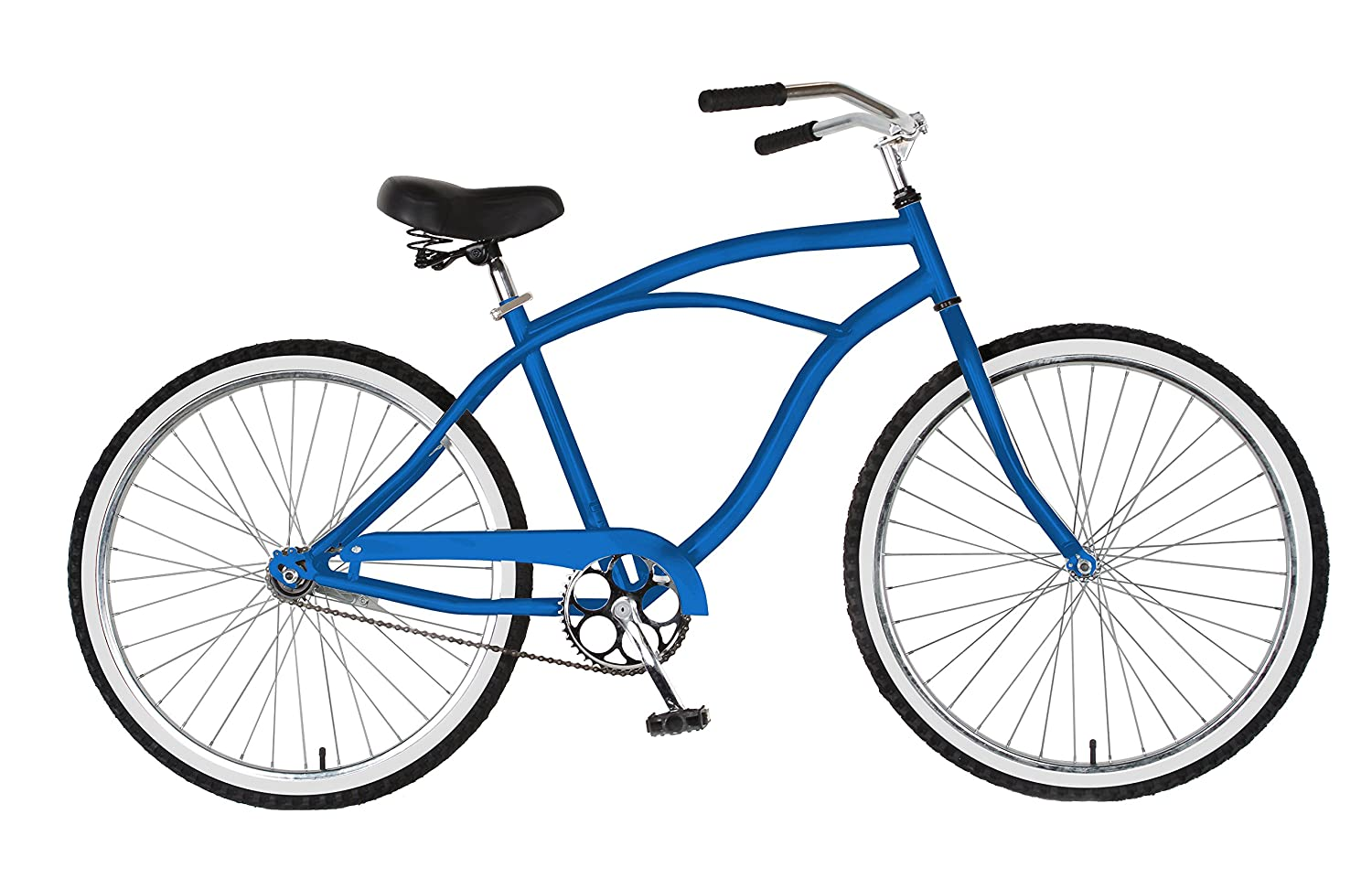 bluee Cycle Force Cruiser Bike, 26 inch Wheels, 18 inch Frame, Men's Bike, Black, bluee, Pink, Red, Silver, White