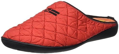 Nordikas Cosmos, Zapatillas de Estar por casa con talón Abierto para Mujer, Rojo, 40 EU: Amazon.es: Zapatos y complementos