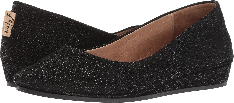 French Sole Women's Zeppa Slip on Shoes B07BWSQL6J 10 B(M) US|Black Stingray