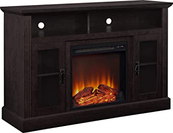 Altra Chicago Fireplace Espresso TV Console for TVs up to 50