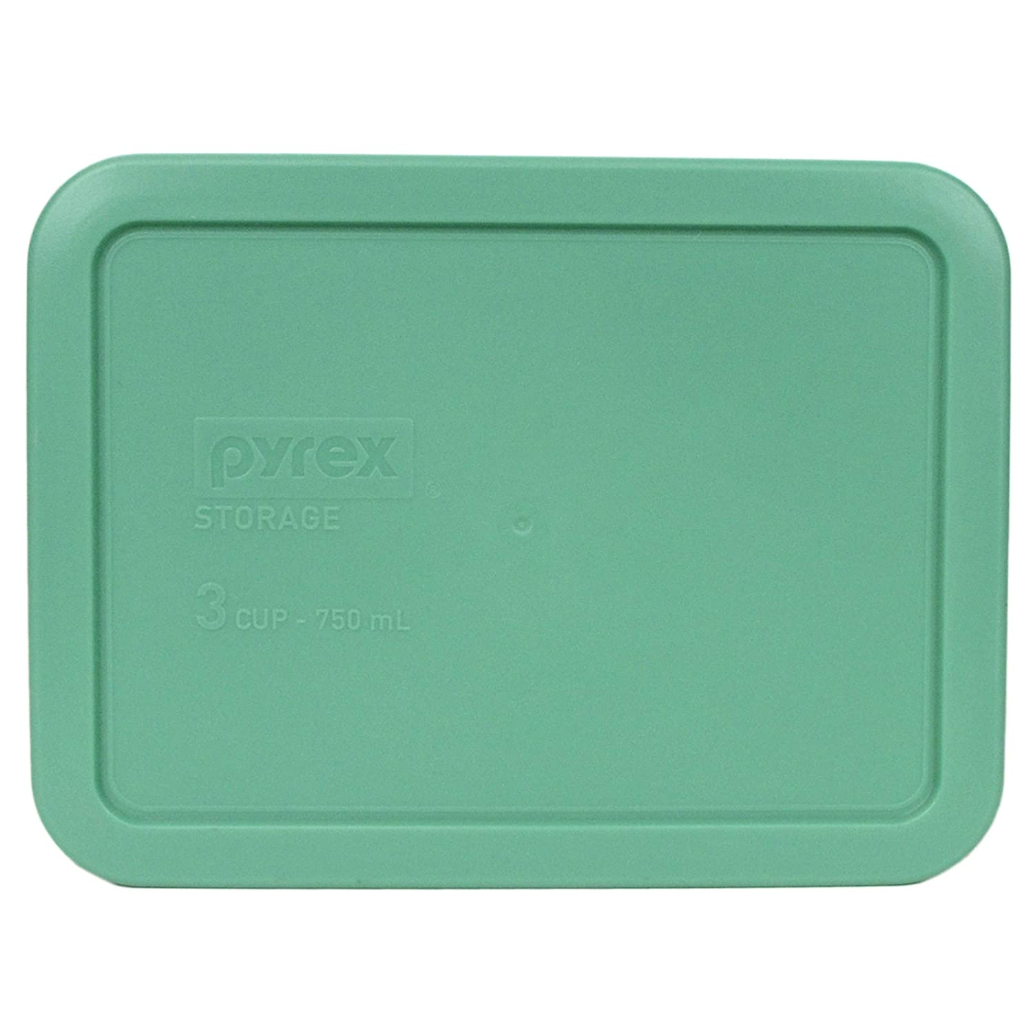 Pyrex 7210-PC 3 Cup Green Rectangle Plastic Food Storage Lid (1, Green)