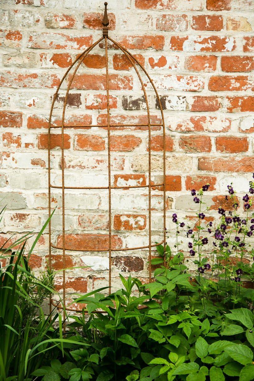 kuheiga Pérgola, celosía, óxido, Altura: 200 cm, Completo Hierro Enrejado semicircular: Amazon.es: Jardín