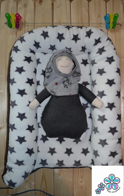 Babynest Babyreisebett Puckhilfe Nestchen made by Mellis Wunderland