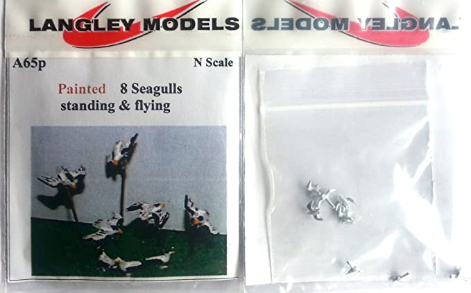 8 Seagulls A65 UNPAINTED N Gauge Scale Langley Models Kit 1//148 Animals Metal