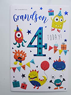 To A Special Grandson On Your 4th Birthday Card 7797CG