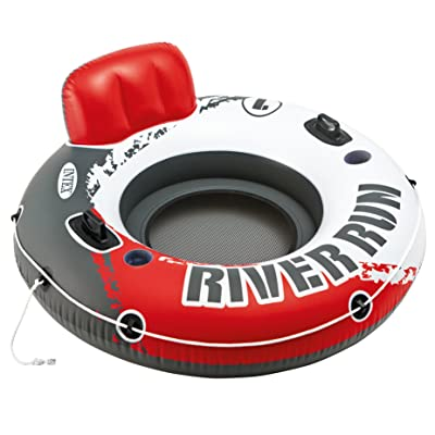 """Intex Red River Run 1 Fire Edition Sport Lounge, Inflatable Water Float, 53"""" Diameter: Toys & Games"""
