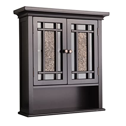 Superbe Elegant Home Fashions Whitney Wall Cabinet With 2 Doors And 1 Shelf