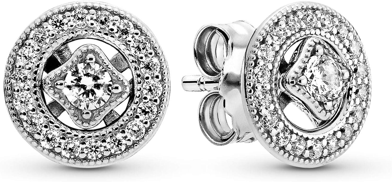 Pandora Pendientes de botón Mujer plata - 290721CZ