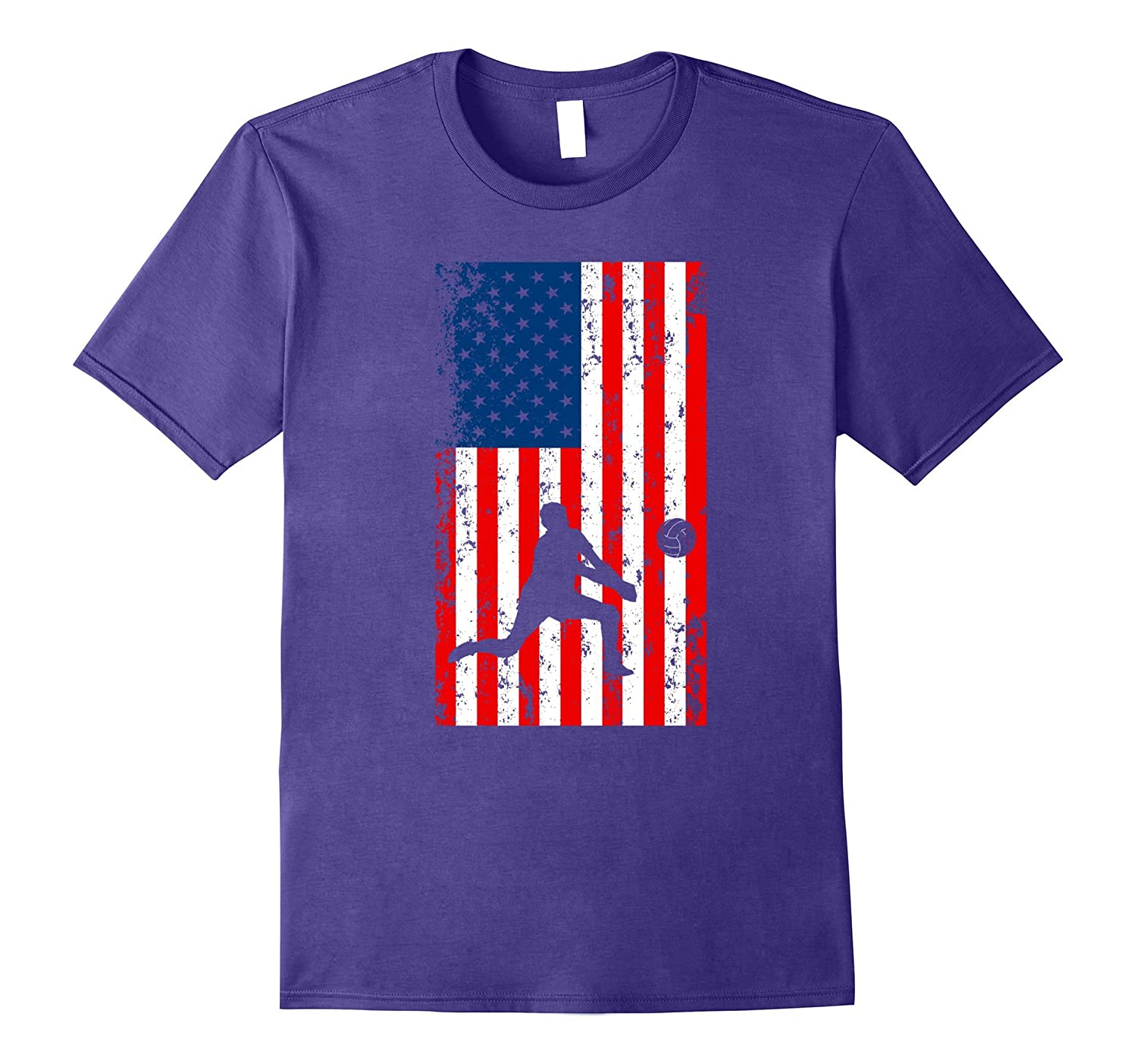 American Flag Volleyball Lover T-Shirt