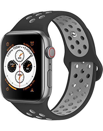 admaster compatible for apple watch bands 38mm 40mm 42mm 44mm soft silicone replacement wristband compatible - fortnite apple watch band
