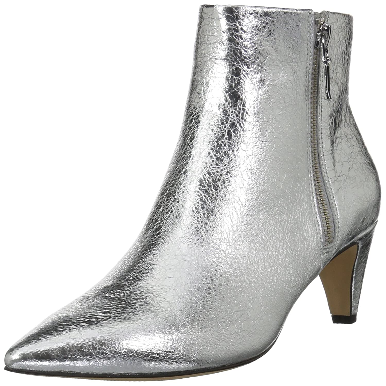 The Fix Women's Kenzee Kitten Heel Bootie Ankle Boot B074JMVM7J 10 B(M) US|Silver Metallic