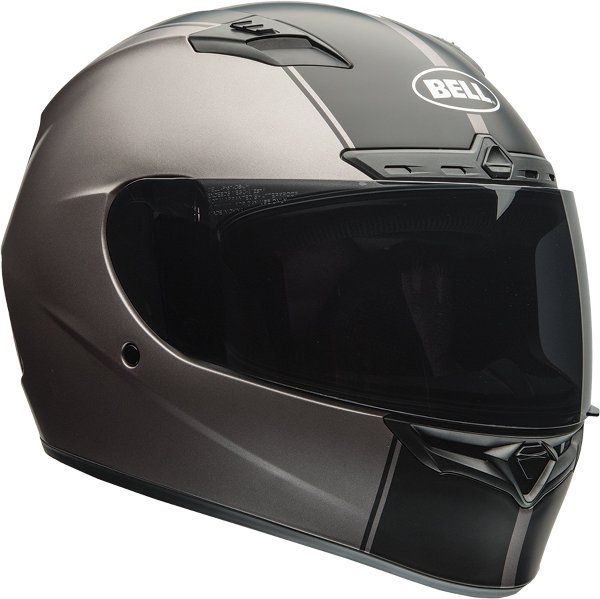 Bell Raly Adult Qualifier DLX On-Road Motorcycle Helmet - Matte Titanium / 2X-Large by Bell (Image #1)