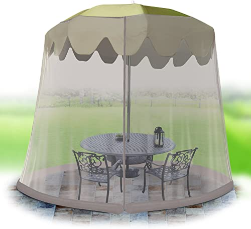 IdeaWorks Outdoor 9 Foot Umbrella Table Screen, Grey