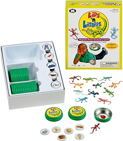 Super Duper Educational Learning Toy for Kids Lids n Lizards Magnetic Photo Vocabulary Game