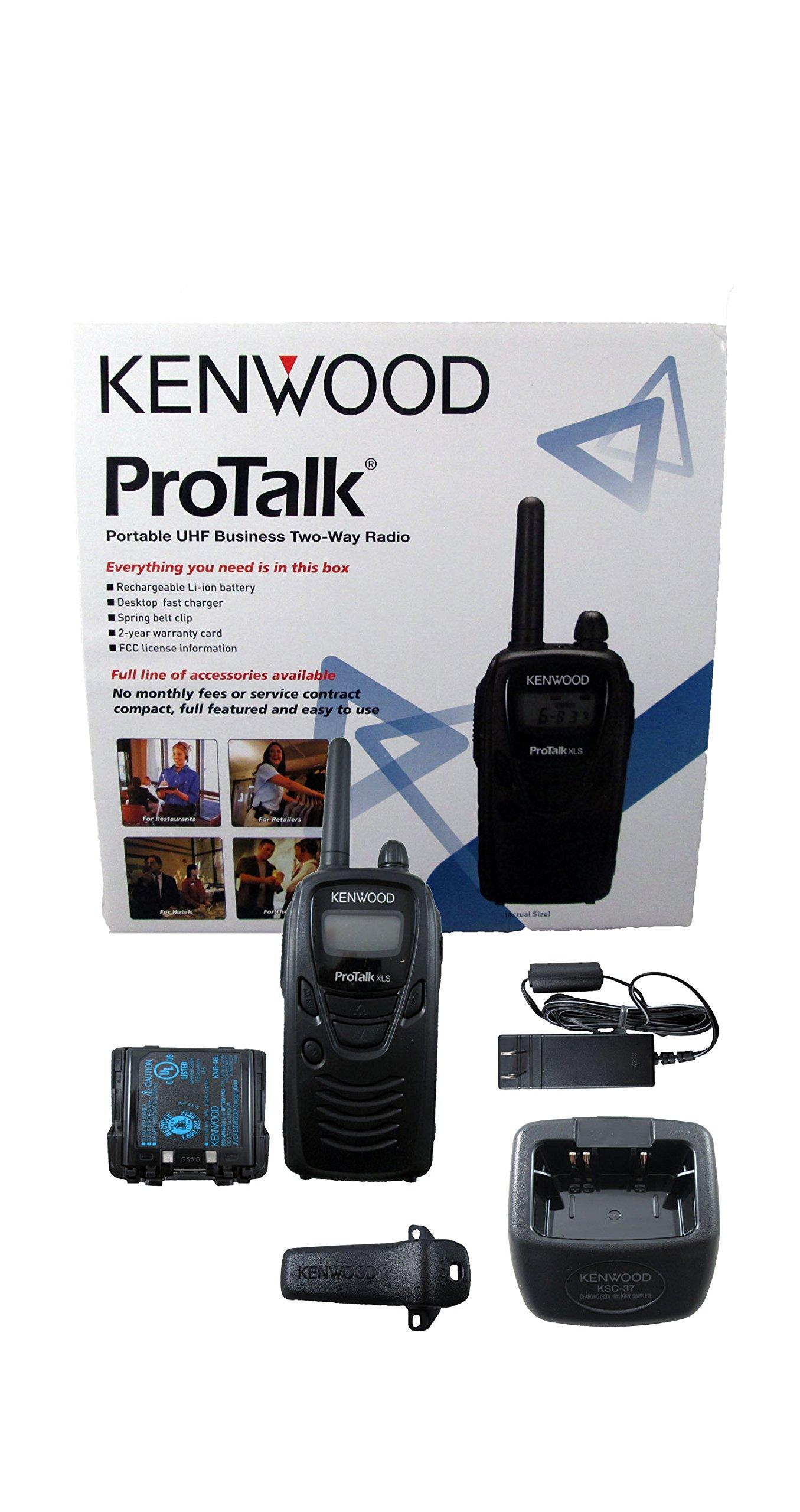 Kenwood TK-3230 ProTalk XLS Portable UHF Business Two-Way Radio, 1.5 Watts Transmit Power, 6 Channels, FleetSync, Black