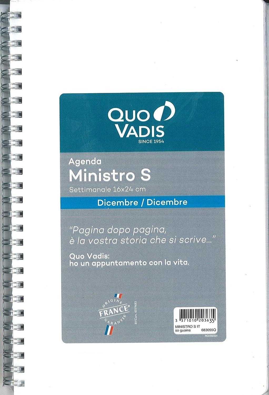 Recambio agenda Quo Vadis MINISTRO S 2018 cm. 16 x 24 con ...