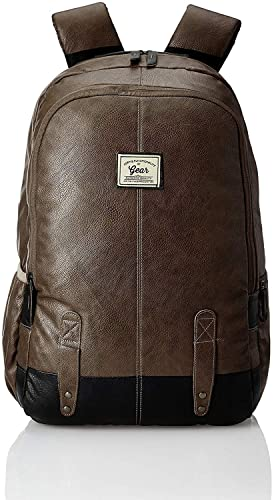 4. Gear Classic Anti Theft Faux Leather Laptop Backpack