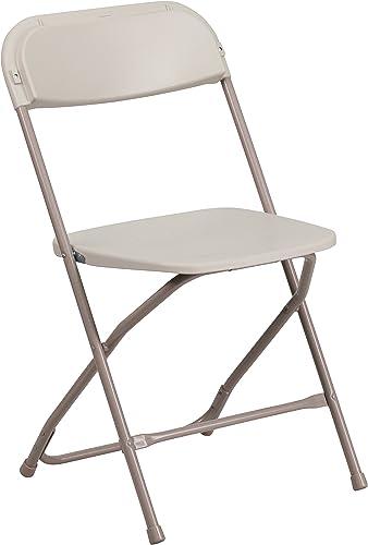 Hercules Series Premium Plastic Folding Chair Set of 10 Color Brown