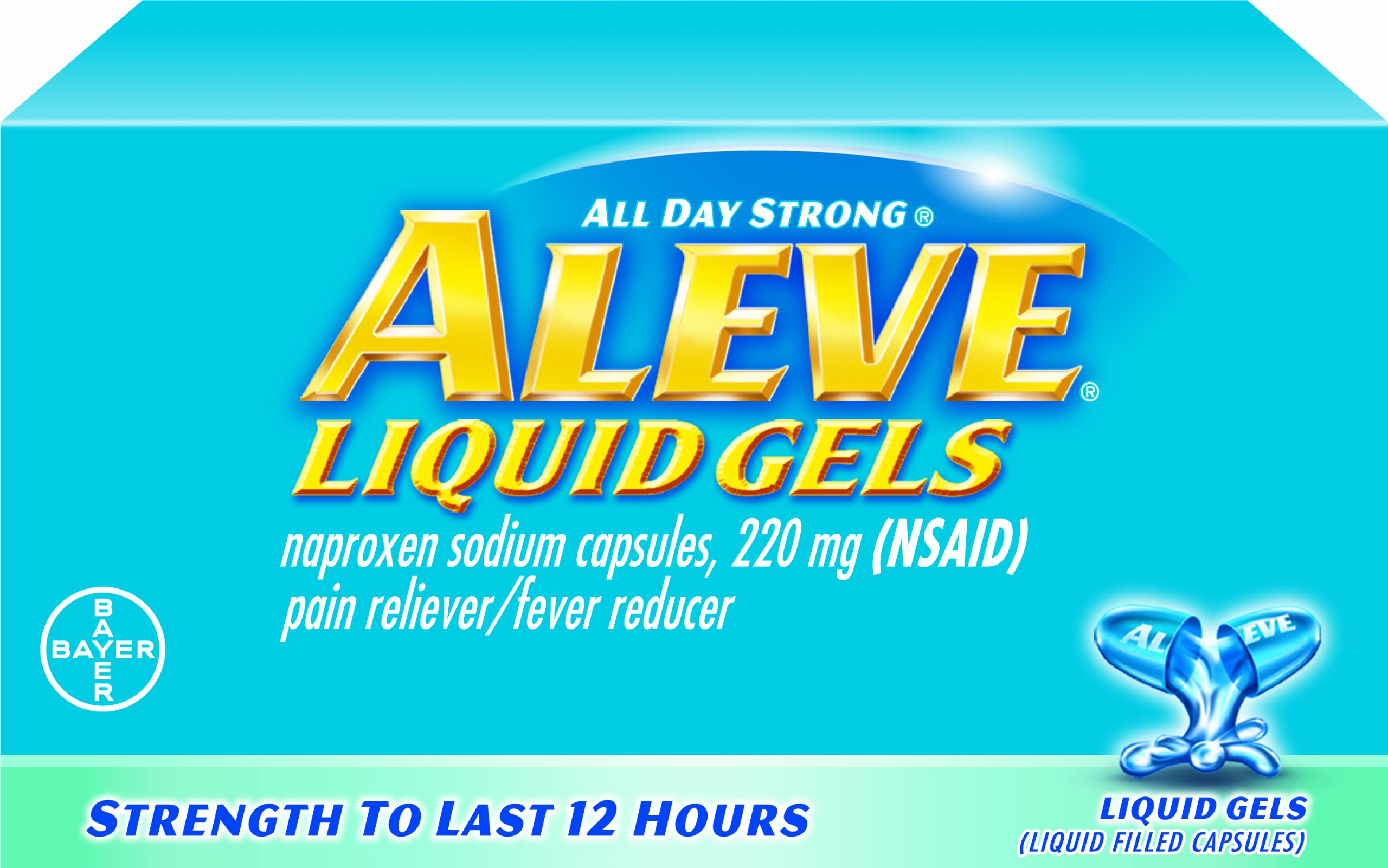 Aleve Liquid Gel, 20-Count (Pack of 2)