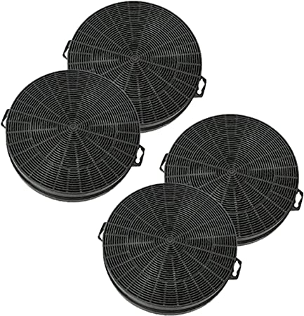 Spares2go Carbono Filtro De Carbón Para Siemens campanas extractoras/cocina respiraderos (Pack de 4): Amazon.es: Hogar