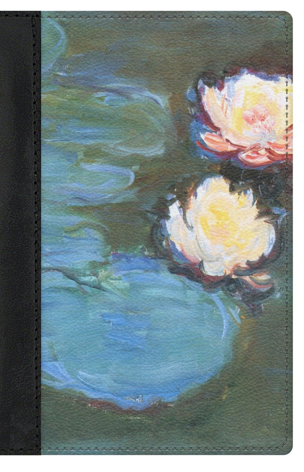 Water Lilies #2 Genuine Leather Passport Cover
