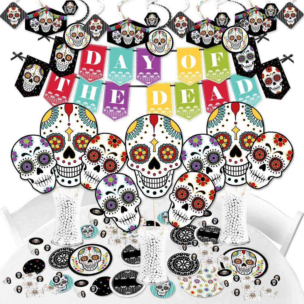 Big Dot of Happiness Day of the Dead - Halloween Sugar Skull Party Supplies - Banner Decoration Kit - Fundle Bundle by Big Dot of Happiness