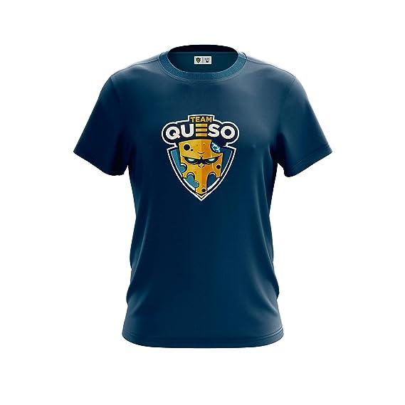 Camiseta para Hombre Shirt Team Queso Logo Vinilo