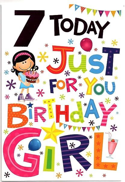 Tarjeta de cumpleaños para niña de 7 años: Amazon.es ...