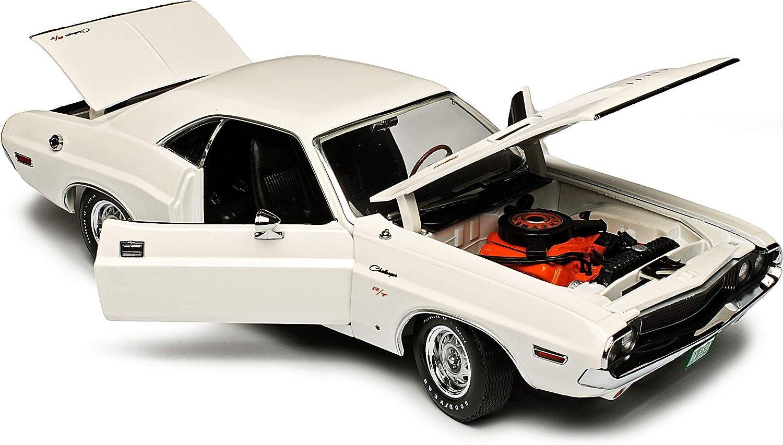 Greenlight Dodge Challenger R//T Coupe Weiss Vanishing Point Fluchtpunkt San Francisco 1 Generation 1969-1974 1//18 Modell Auto mit individiuellem Wunschkennzeichen