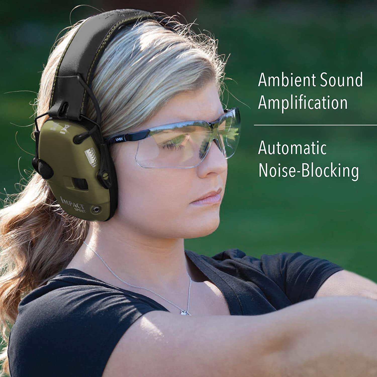 c283bb483abd Amazon.com: Howard Leight by Honeywell Impact Sport Sound Amplification  Electronic Shooting Earmuff, Classic Green (R-01526): Home Improvement