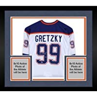 $1439 » Framed Wayne Gretzky Edmonton Oilers Autographed White CCM Heroes of Hockey Jersey - Upper Deck - Fanatics Authentic Certified