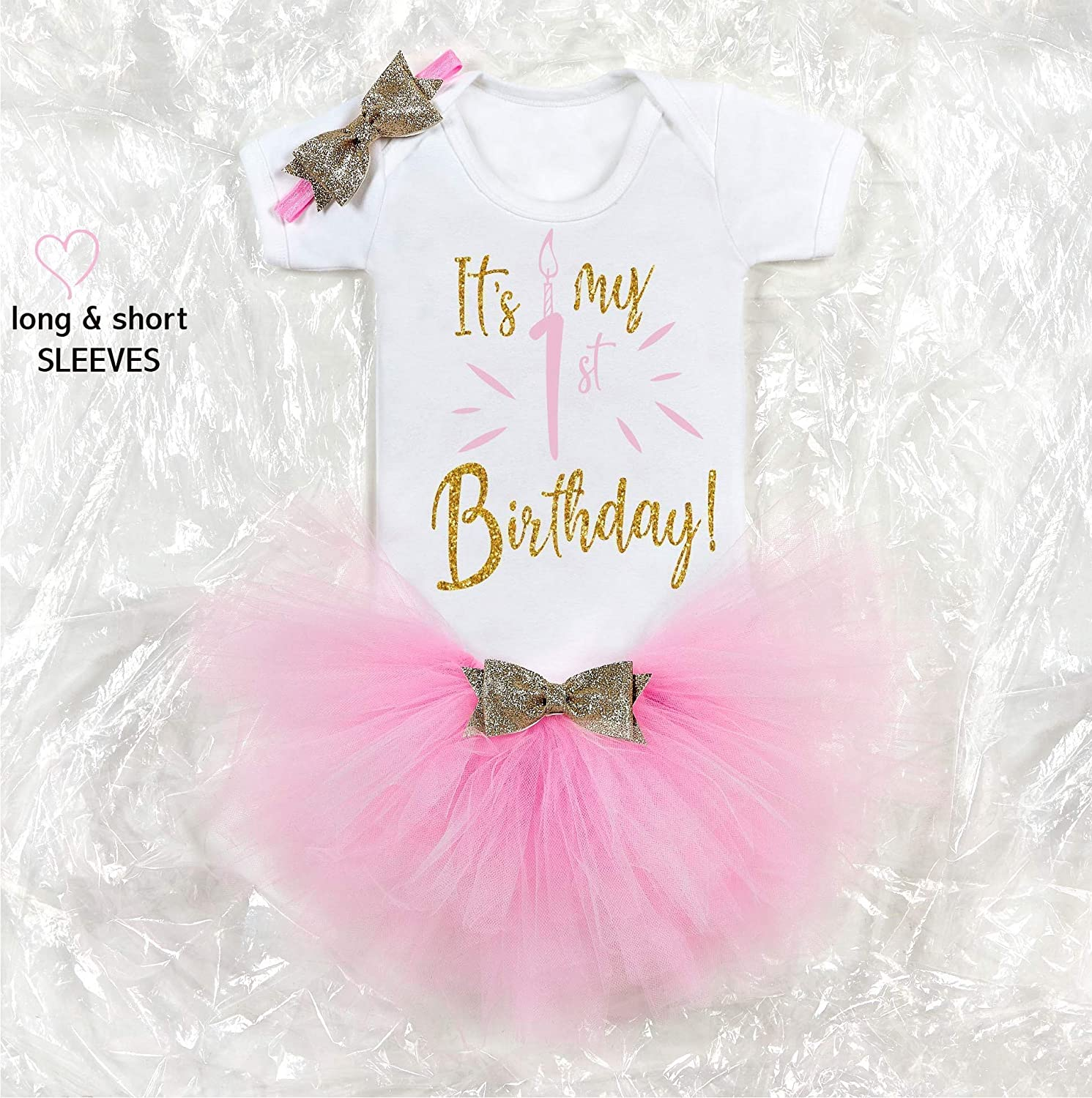 Fabulous Baby Pink 1St Birthday Girl Outfit Baby Tutu Cake Smash Outfit Personalised Birthday Cards Beptaeletsinfo