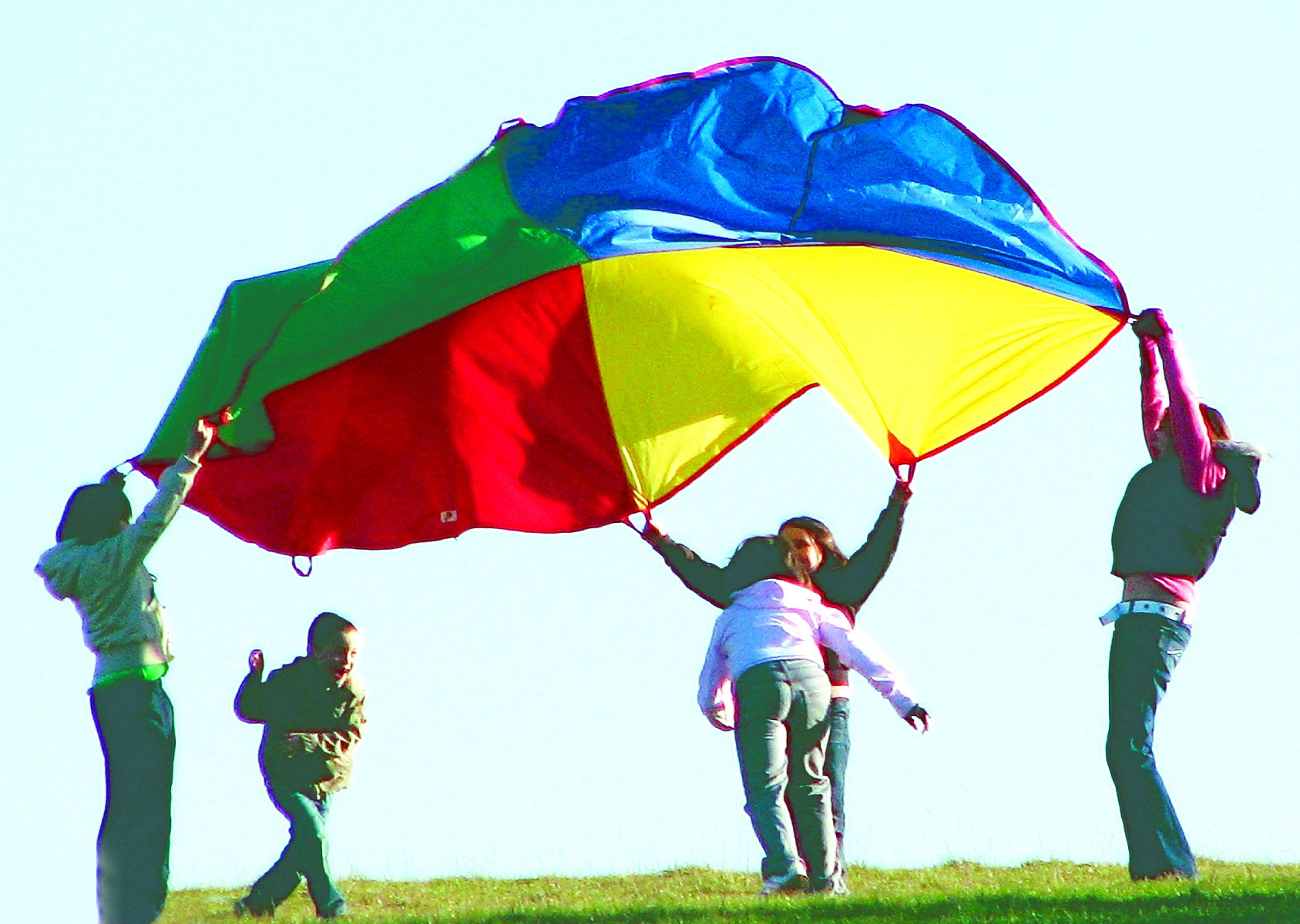 'Playscene' Children's Multicolored Parachute With 8 Handles, Indoor / Outdoor 12 FEET Parachute