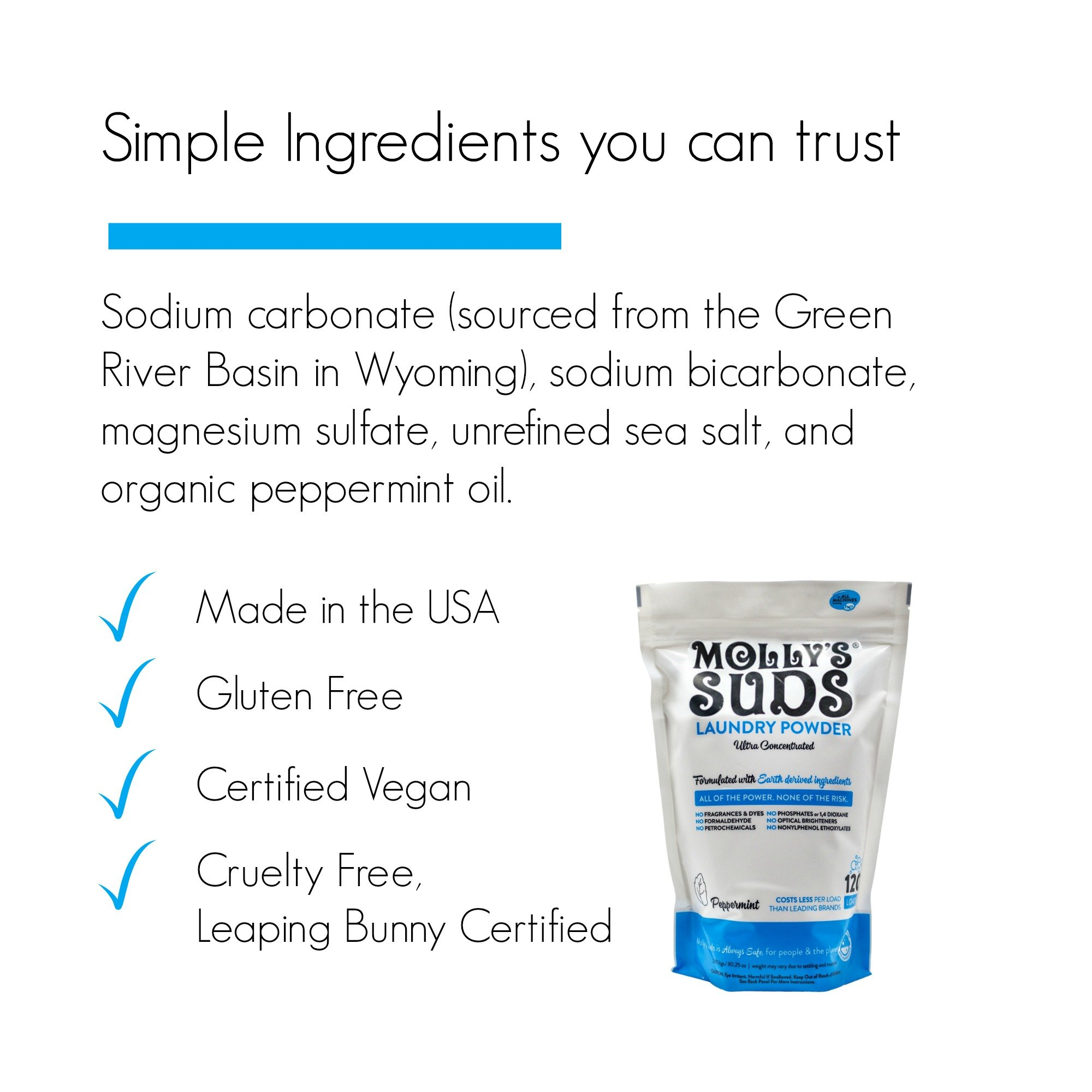 Molly's Suds Original Laundry Detergent Powder 120 load, Natural Laundry Soap for Sensitive Skin by Molly's Suds (Image #3)