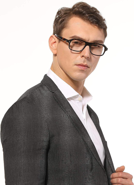 montatura per occhiali da uomo lenti trasparenti opzionali vintage EyeGlow Kingsman