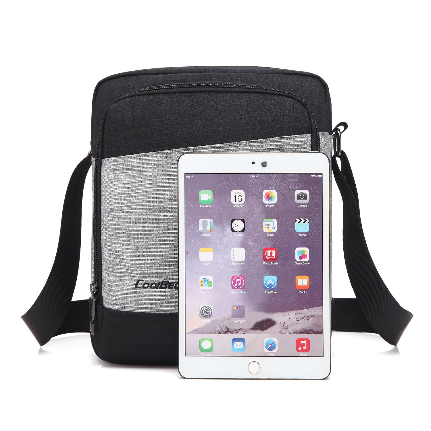 CoolBELL Shoulder bag Crossbody Pouch Satchel Bag Student Messenger Bag Fits 10.6 Inches Tablet//iPad