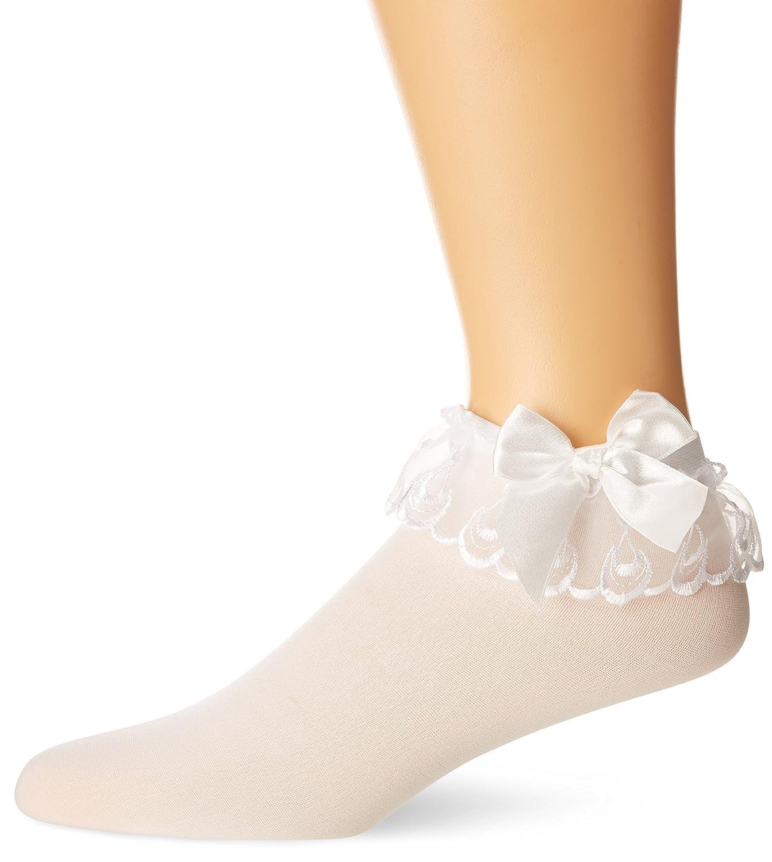 Leg Avenue Women's Stocking Bow and Lace Ruffle 3029