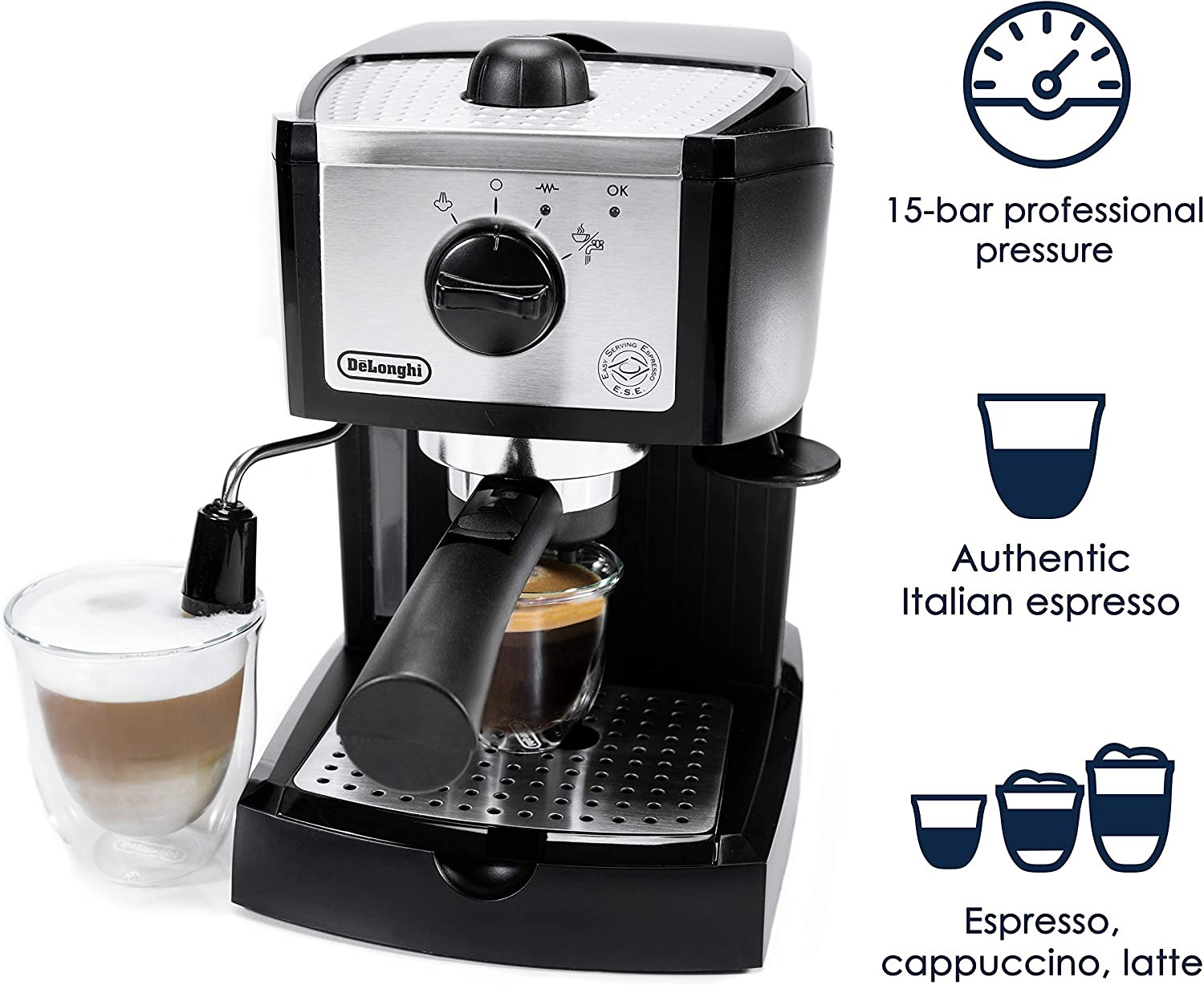 De'Longhi EC155 Espresso and Cappuccino Maker - capsule machine Amazon