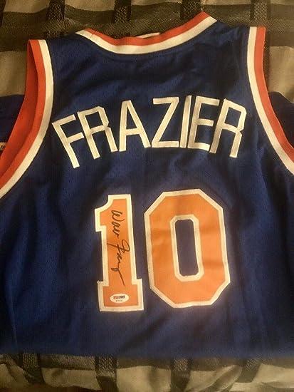 size 40 b1fd1 db1ac Walt Frazier Autographed Jersey - Vintage Reebok Stitched L ...