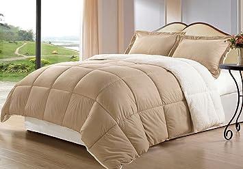 Buy Victoria Classics Micro Mink Sherpa 2 Piece Comforter Set Camel