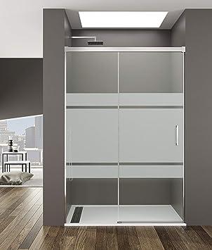 Mampara de Ducha - GME - Basic Frost Plus Frontal - 1 Hoja Fija + 1 Hoja Corredera (160-165 cm): Amazon.es: Bricolaje y herramientas