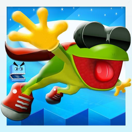 frog on ice - 1
