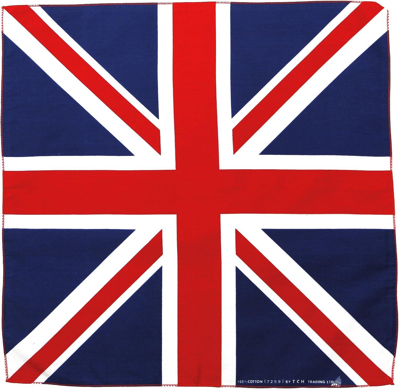 Toalla Bandera Union Jack UK Reino Unido Pañuelo Bandana Pañuelo Toalla de Nicki Aprox. 51 x 51 cm Impresa por una Cara.: Amazon.es: Deportes y aire libre