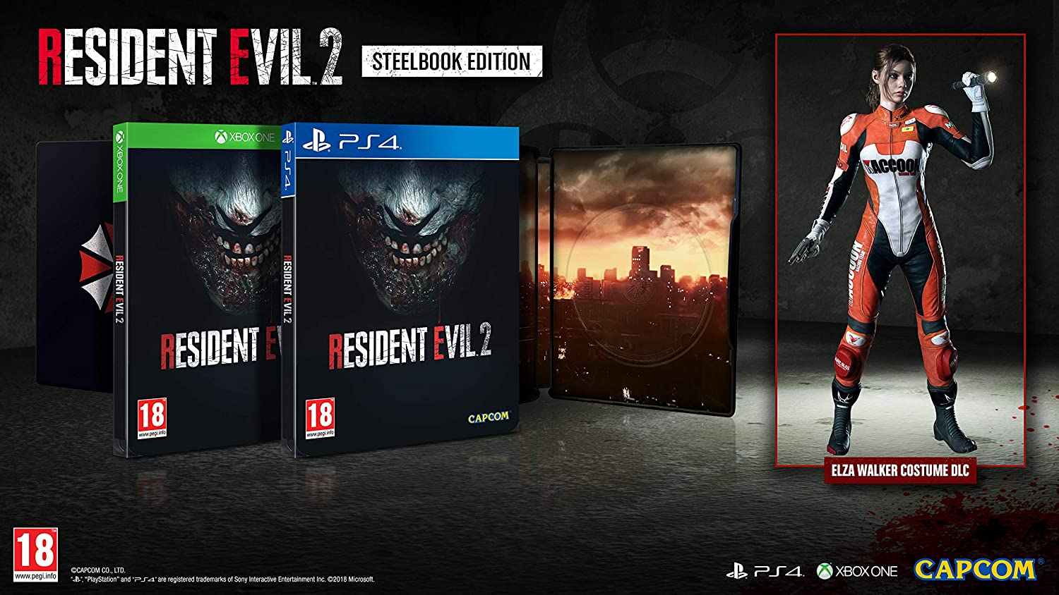 Resident Evil 2 Steelbook Edition (PS4): Amazon co uk: PC