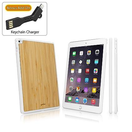 iPad Air 2 Caso, BoxWave® [True Carcasa de bambú Funda con ...