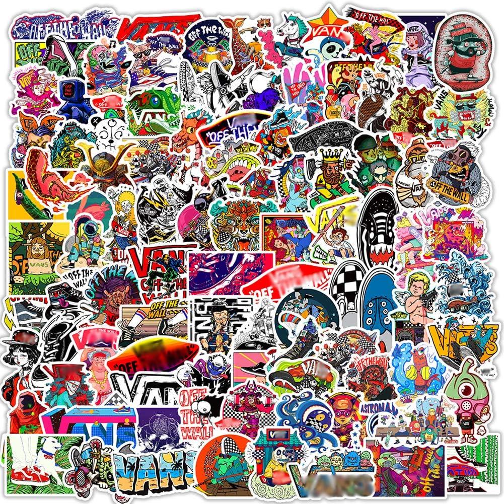 Street Skateboard Vs Logo Brands Graffiti Stickers,100PCS Vinyl Stickers for Laptops Water Bottles Skateboard Snowboard Car Bicycle Luggage Decal