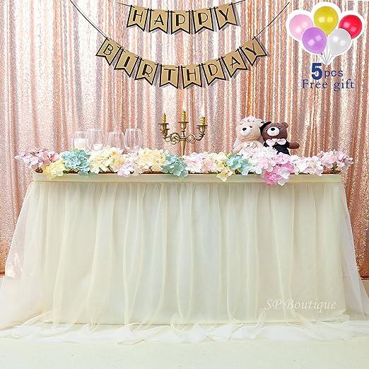 Decoracion Baby Shower Nina De Princesa.Sp Boutique Falda De Mesa De Tutu Color Blanco De Tul 180