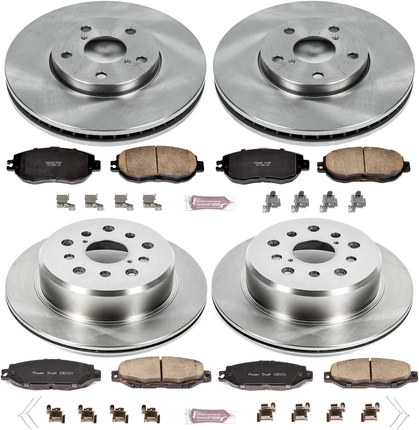 Autospecialty KOE1073 1-Click OE Replacement Brake Kit