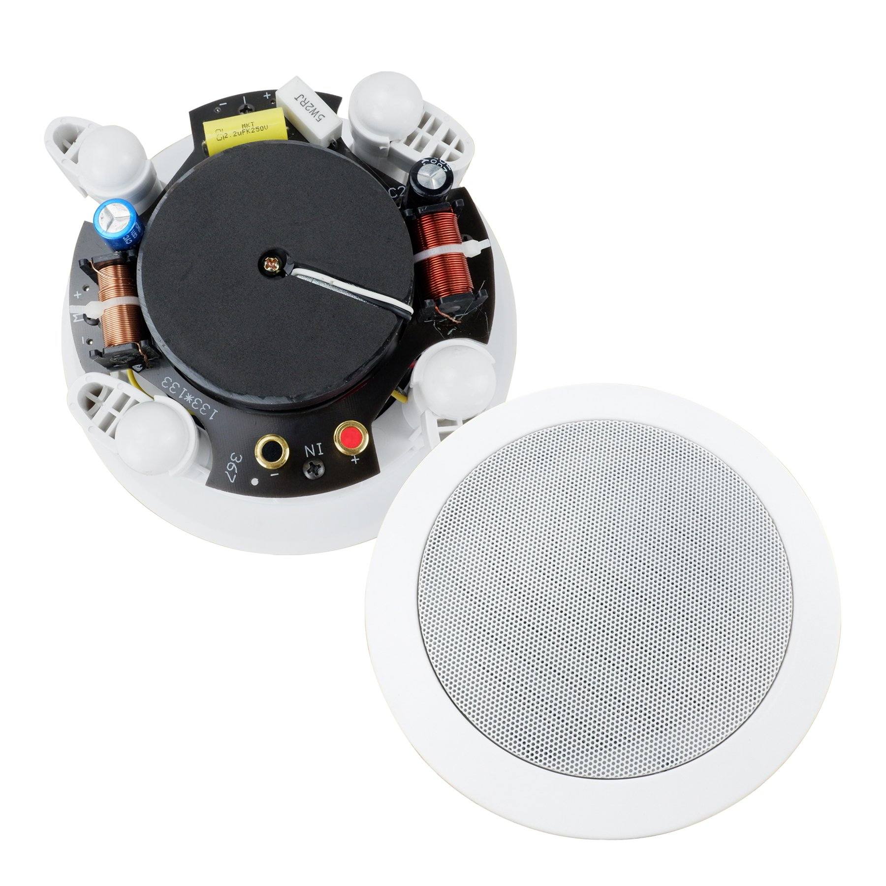 Dual 4-Inch In-wall/In-Ceiling 2-Way Stereo Sound Speaker With 1'' Silk Dome Tweeter And Crossover Network(Sold as Pair)